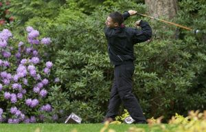 In May of 2010, Jordan Broderson, drives his ball at Sahalee Country Club. Photo by Don Seabrook.